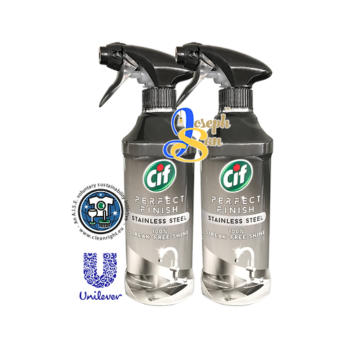 Cif Perfect Finish Stainless Steel Spray [2 Bottles]