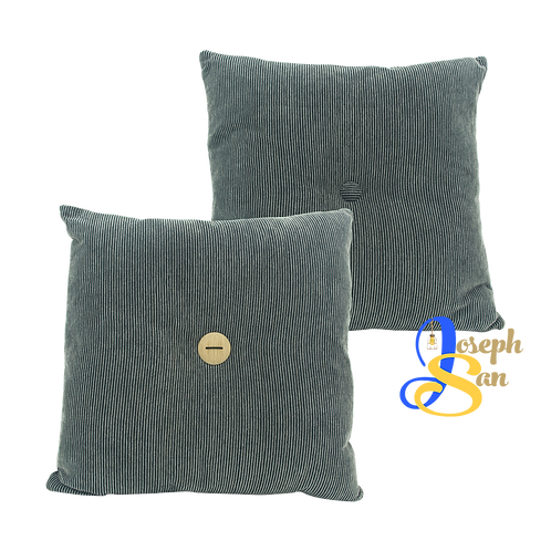 DISTINTIVO 450x450 Square Small Cushion Liquorice