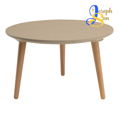CARSYN Round Coffee Table Taupe Grey