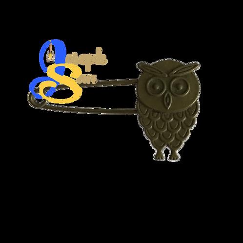 Bronze Wise Owl Brooch