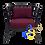 Thumbnail: JENIFER Round Back Lounge Chair Ruby Scarlet