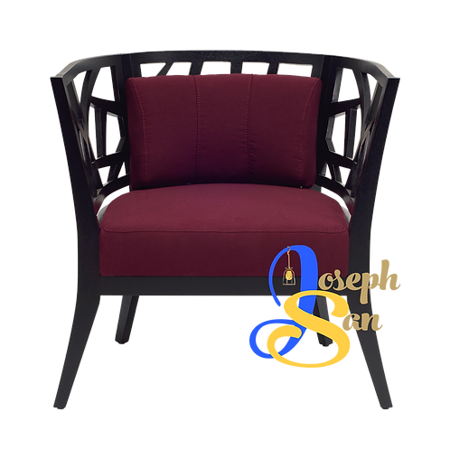 JENIFER Round Back Lounge Chair Ruby Scarlet