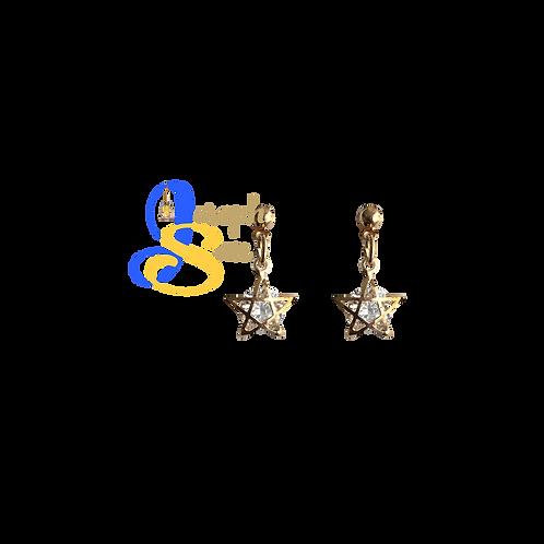 Star Zircon Diamond Dangling Earrings