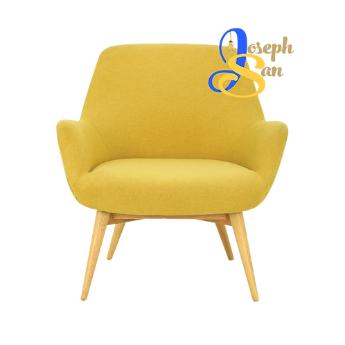 BERLINGO Lounge Chair Yellow Dimity