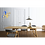 Thumbnail: MITZE Matt Black & Glossy Brass Pendant Lamp