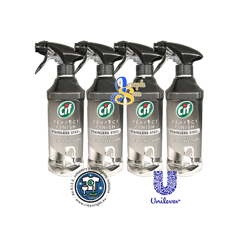 Cif Perfect Finish Stainless Steel Spray [4 Bottles]