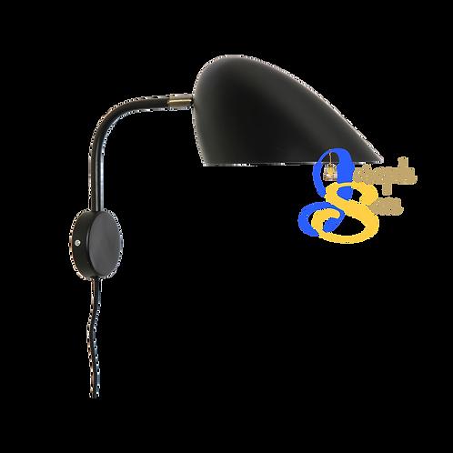 GERBIL Matt Black & Matt Antique Brass Wall Lamp
