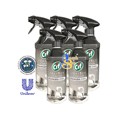 Cif Perfect Finish Stainless Steel Spray [5 Bottles]