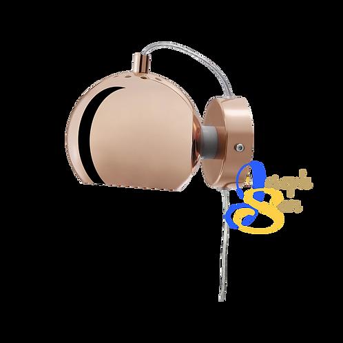 SLUG Glossy Copper Wall Lamp