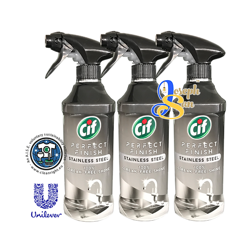 Cif Perfect Finish Stainless Steel Spray [3 Bottles]