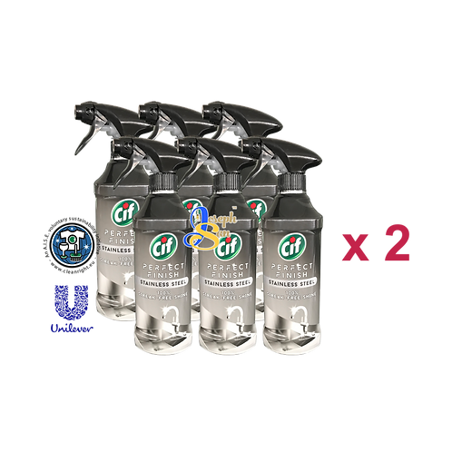 Cif Perfect Finish Stainless Steel Spray [12 Bottles]