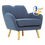 Thumbnail: WAGON 1 Seater Sofa Midnight Blue