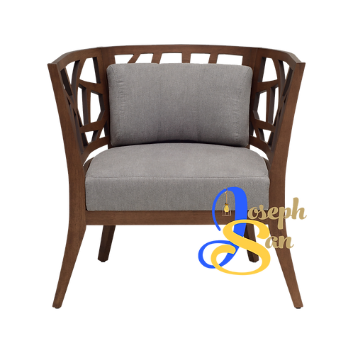 JENIFER Round Back Lounge Chair Dolphin Welkin