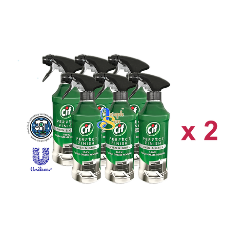 Cif Perfect Finish Oven & Grill Spray [12 Bottles]