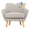 Thumbnail: WAGON 1 Seater Sofa Pale Silver