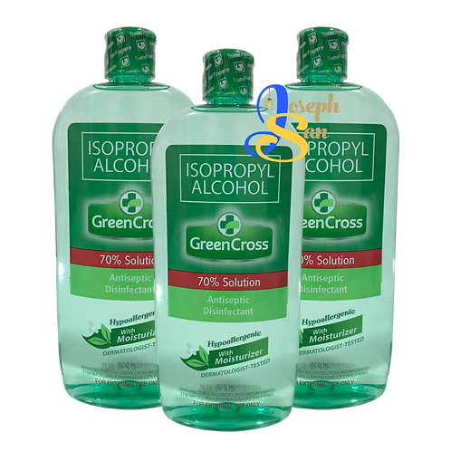 Green Cross Isopropyl Alcohol With Moisturizer (70% Solution) [3-Pack]