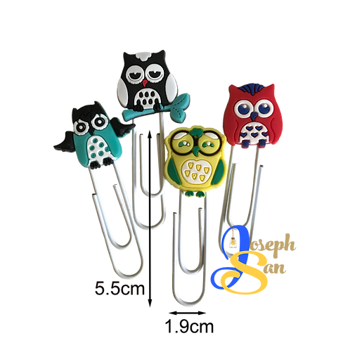 Arty Owls Paper Clips