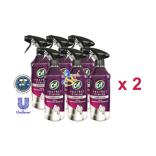 Cif Perfect Finish Anti-Limescale Spray [12 Bottles]