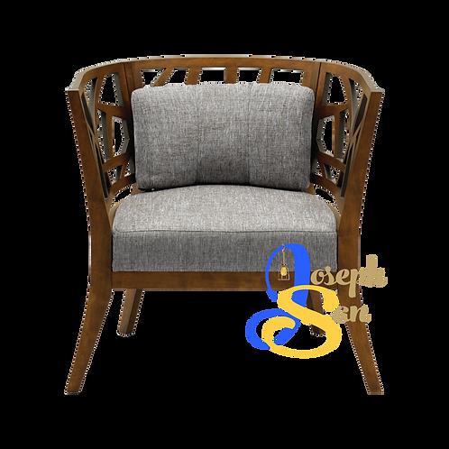 JENIFER Round Back Lounge Chair Pebble Barras