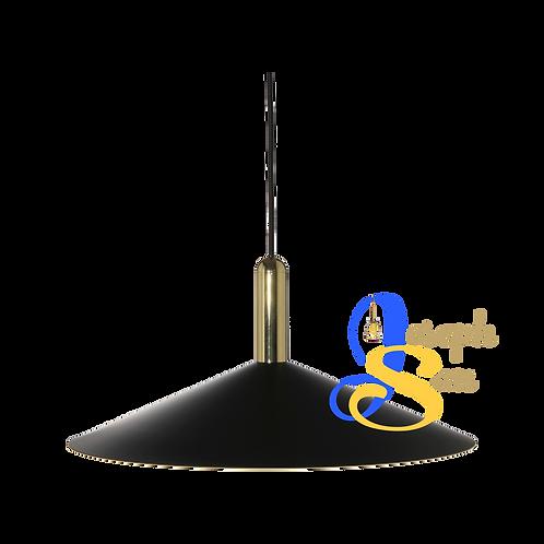 MITZE Matt Black & Glossy Brass Pendant Lamp