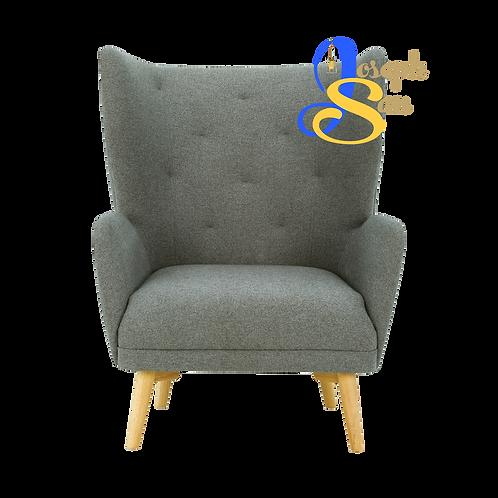 KIWAMI Lounge Chair Battleship Grey Baize