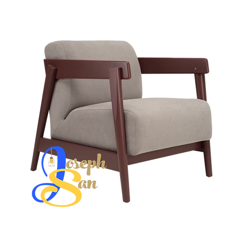 DAEWOOD Lounge Chair Light Grey Jersey