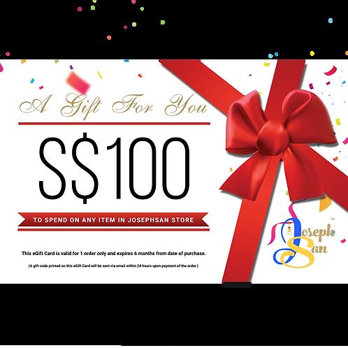 JosephSan eGift Card (SGD 100)