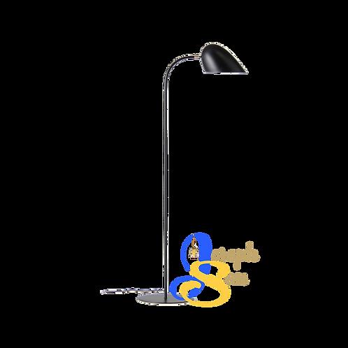GERBIL Matt Black & Matt Antique Brass Floor Lamp