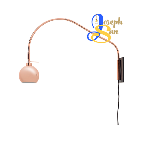 SLUG Long-Necked Copper Wall Lamp