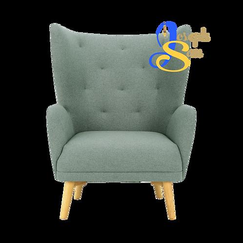 KIWAMI Lounge Chair Marble Blue Baize