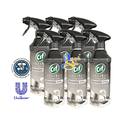 Cif Perfect Finish Stainless Steel Spray [6 Bottles]