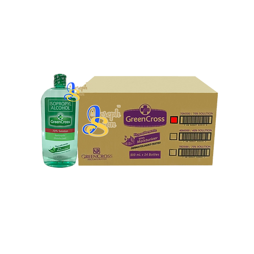 Green Cross Isopropyl Alcohol With Moisturizer (70% Solution) [24 Bottles]