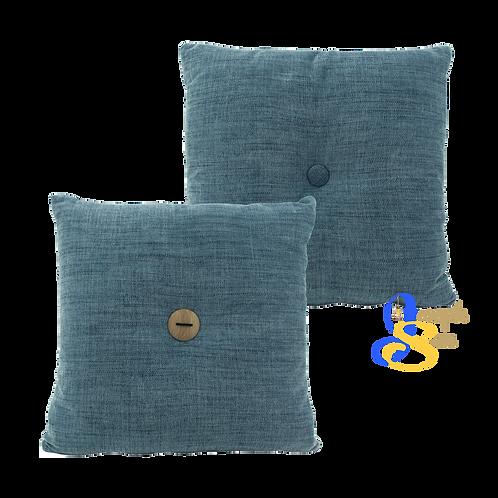 DISTINTIVO 400x400 Square Small Cushion Blue Grey