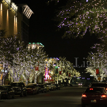 Shops at Legacy Wrapped trees