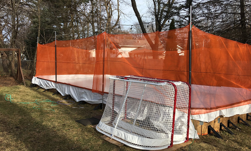 Ice Rink Containment Netting