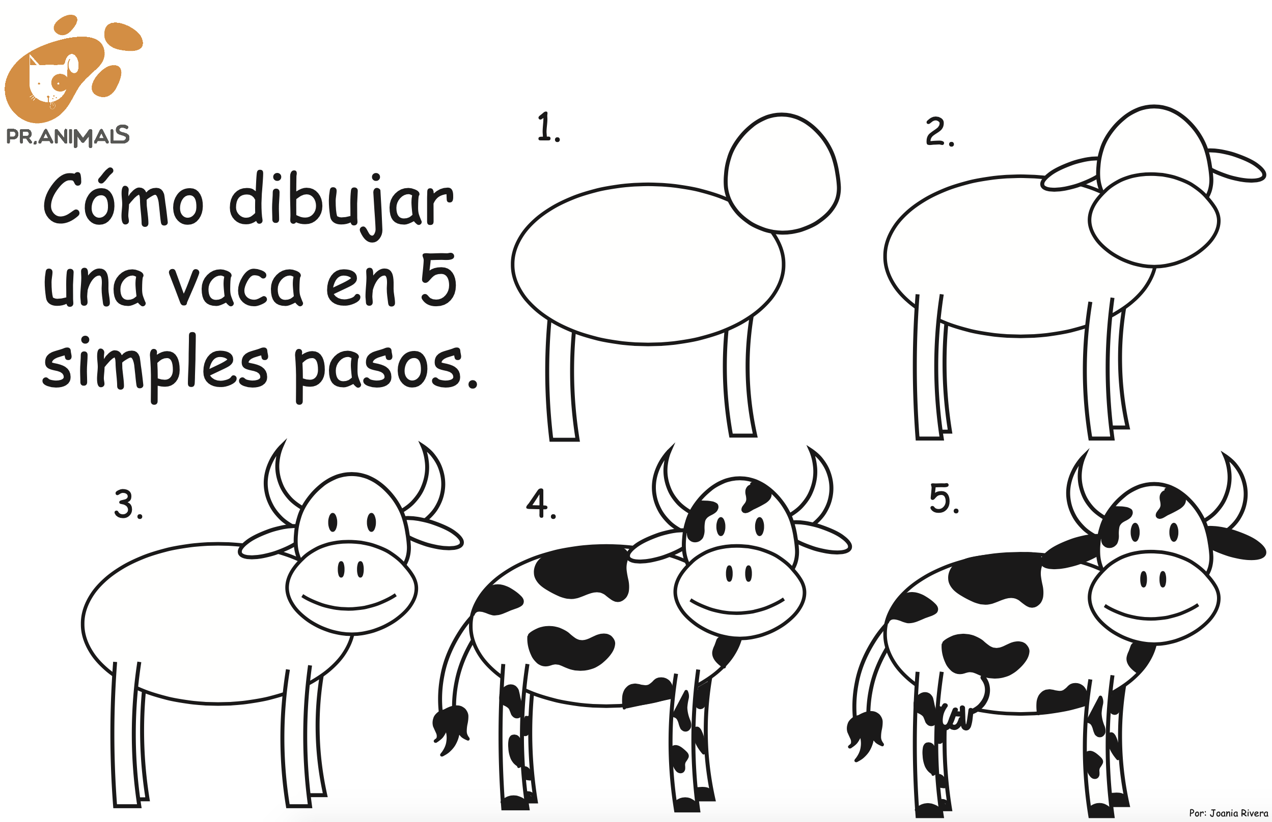 Cómo Dibujar una Vaca