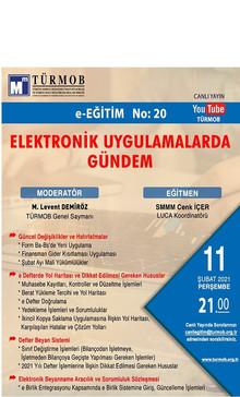 """""""ELEKTRONİK UYGULAMALARDA GÜNDEM"""""""