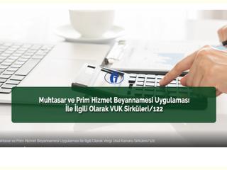 """VUK Sirküleri/122 """"Elektronik ortamda mevcut e-beyanname şifresinden ayrı olarak kullanıcı kodu, par"""