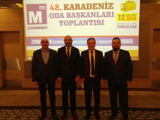Zonguldak SMMM Odası ev sahipliğinde gerçekleştirilen 42. Karadeniz Odaları Platform Toplantısındayı