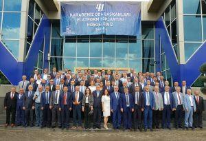 41. Karadeniz odaları toplantısı Sakaryada yapıldı oda başkanımız Yaşar ÖZDEMİR toplantıya katıldıla