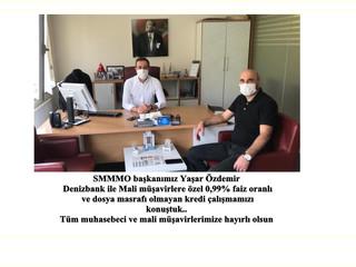 SMMMO başkanımız Yaşar Özdemir Denizbank ile mali müşavirlere özel 0,99% faiz oranlı ve dosya masraf