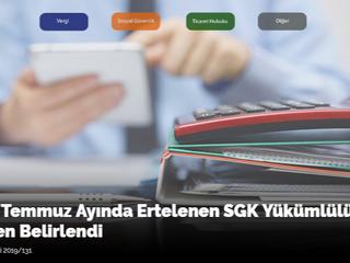 2019/Temmuz Ayında Ertelenen SGK Yükümlülükleri Yeniden Belirlendi
