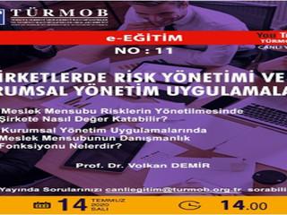 Şirketlerde Risk Yönetimi ve Kurumsal Yönetim Uygulamaları Konulu E-Seminer