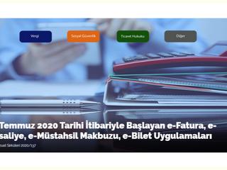 1 Temmuz 2020 Tarihi İtibariyle Başlayan e-Fatura, e-İrsaliye, e-Müstahsil Makbuzu, e-Bilet Uygulama