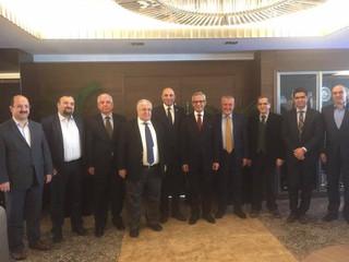 TÜRMOB Yönetim Kuruluna yeni dönem için seçilen Prof. Dr. Cemal YÜKSELEN, A.Masis YONTAN, Yahya ARIK