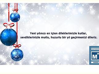 Yeni yılınızı en içten dileklerimizle kutlar, sevdiklerinizle mutlu, huzurlu bir yıl geçirmenizi dil