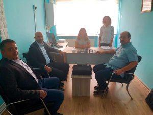 Odamız üyeleri Bahriye Büyükbıçakcı,Asuman Aluçlu , İlhan İslam Karagözoğlu'nun yeni açmış olduğu Mu