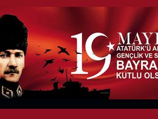 Kurtuluş Savaşının Meşhalesinin yakıldığı 19 Mayıs 1919 Atatürk'ü Anma, Gençlik ve Spor Bayramınız K