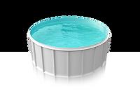 Plasters plastovy bazen kruhovy biela -