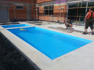 Plasters plastovy bazeny hranate modre